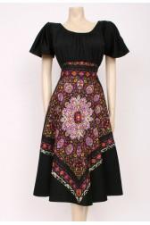 Tie-Back Printed Dress