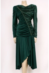 Gathered Green Dress