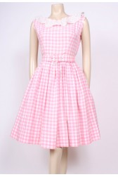 Gingham Cotton 50's Dress