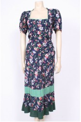 1930's Cotton & Crepe Dress