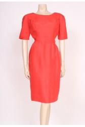 Pink Silk Wiggle Dress