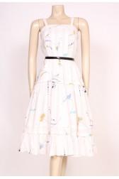 White Printed Sun Dress