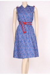 Belted Blue Dress