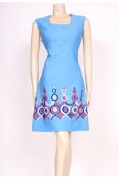 Blue Buttons Mod Dress