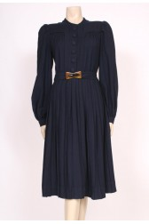 Belted 40's Wool Dress