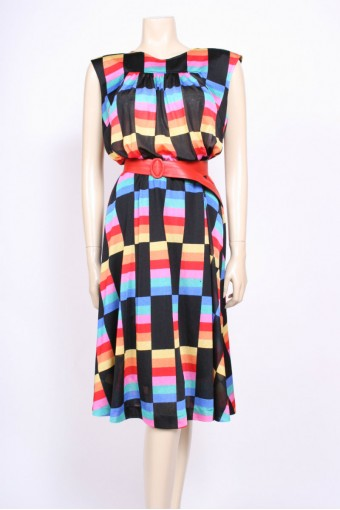 Black Rainbow Dress