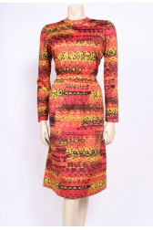 Rust Red 70's Dress