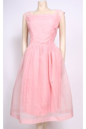 Nylon & Brocade 50's Dress
