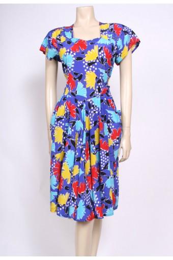 Bright Silk Dress