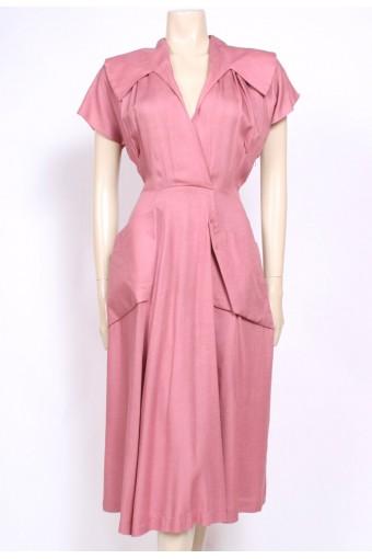 Pink Cotton 40's Dress