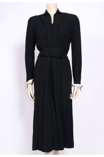 Coil Belted 1940's Dress