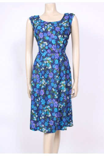 Cotton Blues 50's Dress