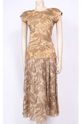 Parisian Paisley Cotton Dress