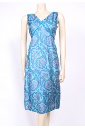 Silk Paisley 50's Dress
