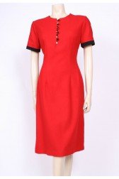 Red Wool 60's Dress