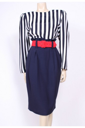 Ruffle Waist Stripes