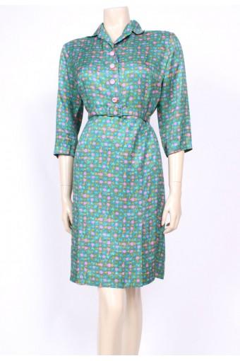 Pink & Jade 60's Dress