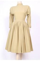 Taupe Wool 50's Dress