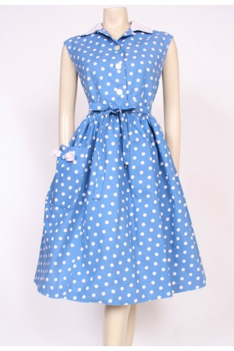 Cotton Polkadot 50's Dress