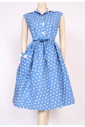 Cotton Polkadot 50's Dress