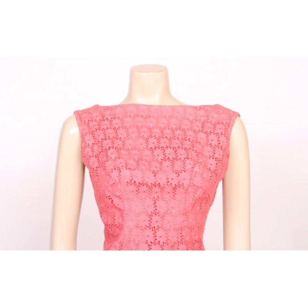 blush pink lace 60s dress