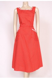 Cotton Red Sun Dress