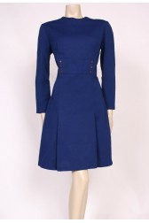 Blue Mod Buttons Dress