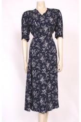 Printed Silk 40's Dress