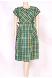 Green Checks Dress