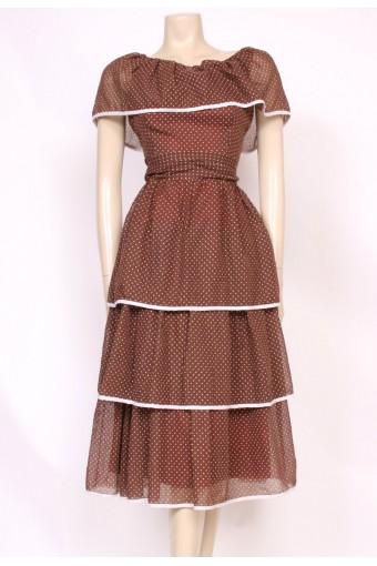 Tiered Spotty Sun Dress