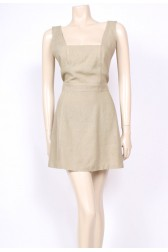 Linen Backless Mini