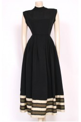 Beaded Grosgrain 50's Dress