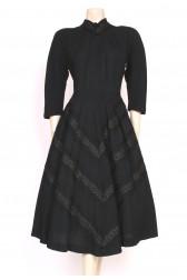 1940's Pom-Poms Grosgrain Dress