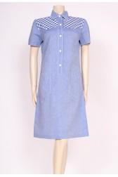 Blue Check 60's Dress