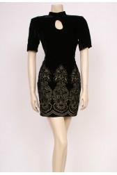 Peekaboo Velvet Dress