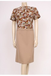 60's Autumn Printed Dress
