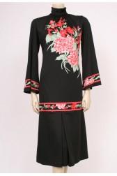 Flared Sleeve Flower Dress