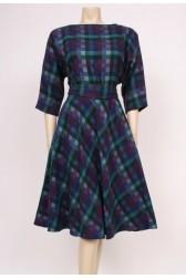 Blues Plaid Wool Dress