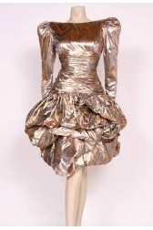Gold Puffball Party Dress
