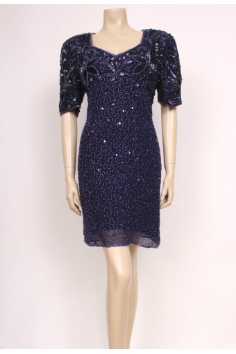 Deep Purple Sequin Dress