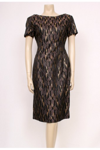 Gold Brocade Wiggle Dress