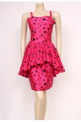 Pink Polka Ra-Ra Dress
