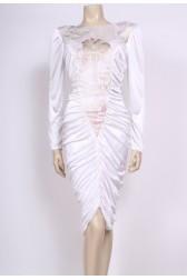 Gathered Glitter Dress