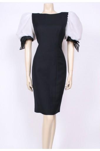 Mega-Puff Shoulder Dress