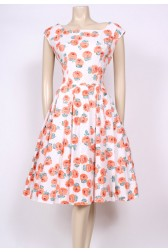 Orange Rose Tea Dress