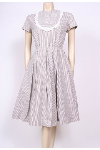 Frilled Bib 50's Dress