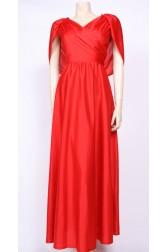 Caped Maxi Dress