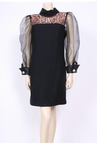 Sheer Sleeves 60's Dress