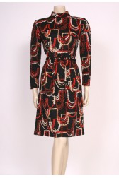 Abstract Print Mod Dress