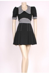 Mod Black Mini Dress